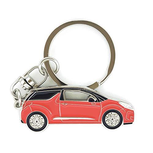 mächtig 3dcrafter Citroen DS3 Schlüsselbund Auto Abzeichen Fahrer Geschenk männlich oder weiblich rot 80