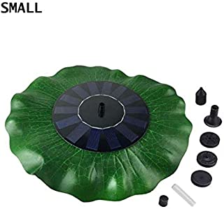 ReeeR Solar Fountain for The Pool Nozzles Lotus Leaf Plants Watering Kit Solar Panel Bird Bath Garden Decor Pond Pump Irrigation Tool