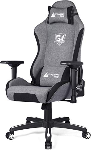 GTRACING Gaming Chair ACE-S1 Series Ergonomic Office Desk Chair With High Back Support And Fully Adjustable 4D Armrest 360° Swivel Rocking Chair (Gray)