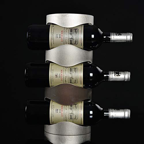 HZFROST RVS wijnrek hangend rek flessenrek wijn Europese stijl decoratie 4 flessen wijnrek A