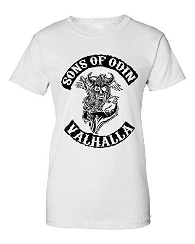 BakoIsland Sons of Odin Valhalla Chapter Camiseta de Mujer Large