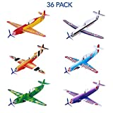 Toyvian 36 Pack Flying Glider Planes, foam air gliders Paper Airplane Toy Model Kits in 6 Different...