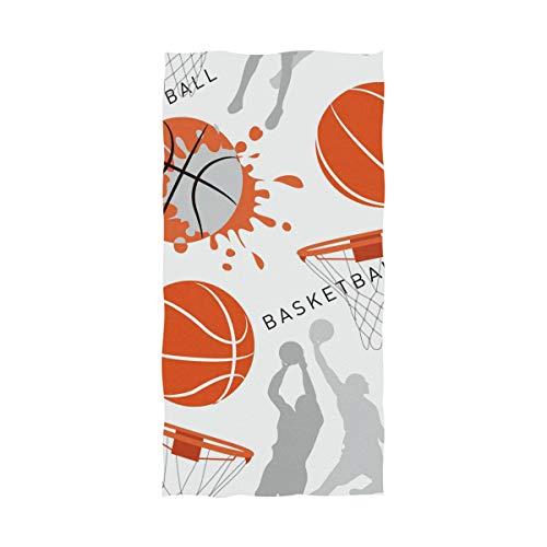 DXG1 Toalla de playa de baloncesto toalla de baño de microfibra manta de piscina para adultos, hombres y mujeres, tamaño grande 81,2 x 162,6 cm