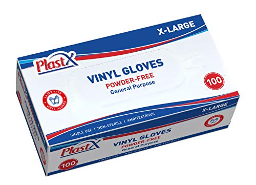 100 Count Vinyl Disposable Gloves Extra Large Cleaning Plastic General Purpose Gloves Latex Free