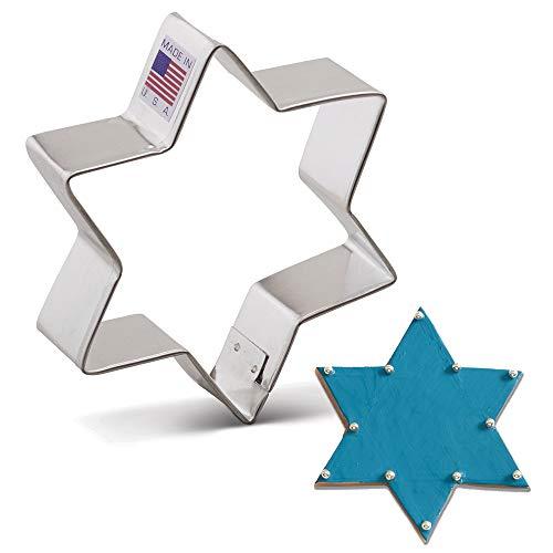 Ann Clark Cookie Cutters Emporte-pièces étoile de David - 9,5 cm - Acier de fabrication américaine