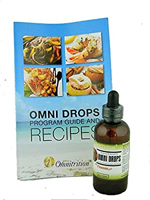 Omni Drops Diet Drops with Vitamin B12 - 4 oz with Program Guide by Omnitrition