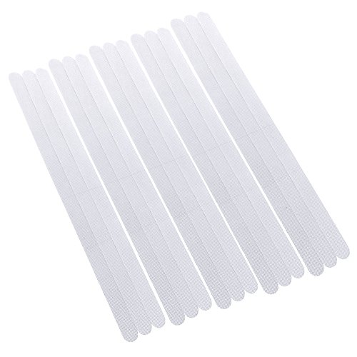 """Rovtop 18 Pieces 15"""" Anti-slip Strips Shower Stickers Bath Safety Strips Transparent Non Slip Strips Stickers for Bathtubs Showers Stairs and Floors"""