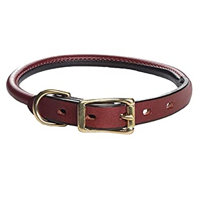 "Mendota Products ME13322 Pet Standard Rolled Dog Collar, 3/4"" x 22"", Chestnut"