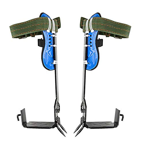 CARESHINE Portable Tree Climbing Spike 2 Gears Set Safety Belt Adjustable Rope Rescue Belt for Househeld Commercial