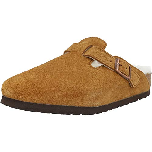 Birkenstock Boston Shearling Braune Sandalen-UK 8 / EU 42