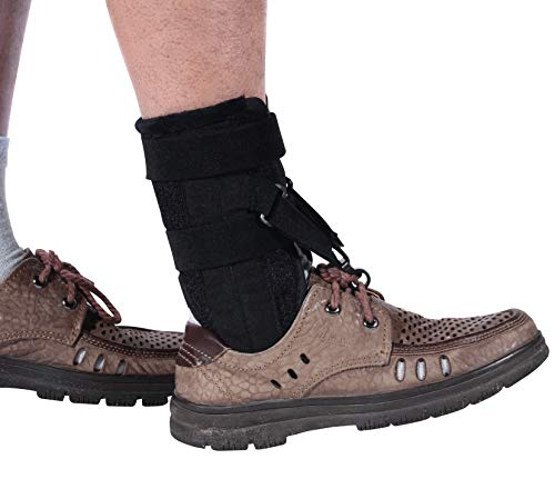 Foot Drop Brace for Walking,Shoes for Drop Foot Braces Left and Right Foot Up Ankle Support Raise Shoes Improved Walking Gait Fits Women and Men(Black)
