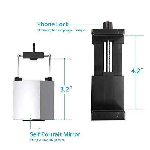 Fugetek 49 'Selfie Stick Monopod Profesional de gama alta FT-568, para Apple iPhone, Android Samsung, y cámaras DLSR, aleación de aluminio, mando a distancia inalámbrico Bluetooth recargable (negro)