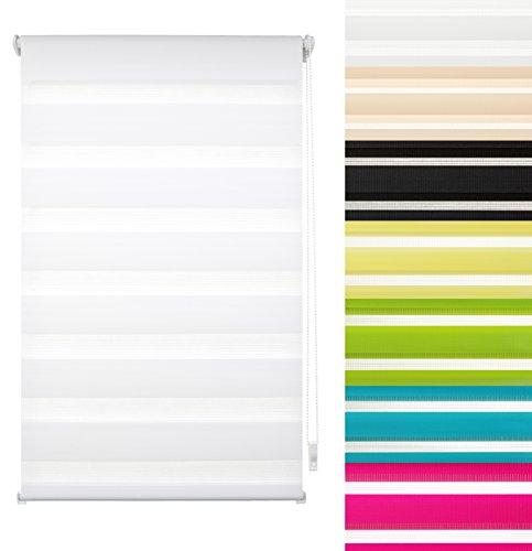Garduna FIX Duo-Doppel-Rollo #Pastell rosa 60cm # Smartfix - Klemmfix - ohne Bohren - viele Farben & Größen - Sichtschutz - lichtdurchlässig