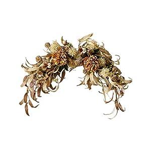Christmas Door/Wall-Hanging Wreath, Artificial Flower Autumn Pine Cone Branch/Eucalyptus Leaf/Meilan/Lace Flower/Zinnia