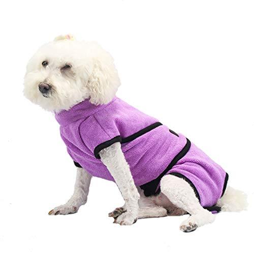 WANGLXST hondenhanddoek, ultra-absorberende hondendoek, microvezel badjassen zijn licht, sneldrogend en super absorberend.