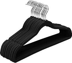 commercial Utopia Home Premium Non-Slip Velvet Hanger-Heavy Duty-Suit Hanger (Black, 30) hangers non slip