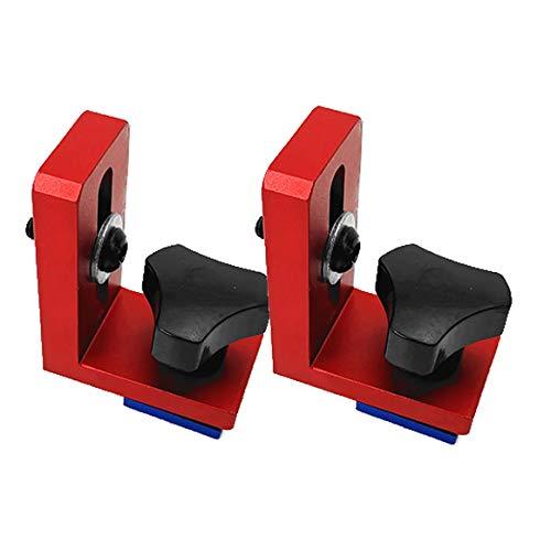 Fissa T-Slot Track Stop Locator Staffe scorrevoli Lavorazione del legno Fermo della guida Chute Backing Connector Strumento di lavorazione del legno 2 Pezzi