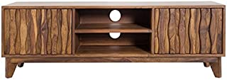 Casa Padrino Designer TV Cabinet TV Board Natural W.145cm x H.45cm x D.40cm - Aparador - Cómoda - ¡Madera Maciza Hecha a M...