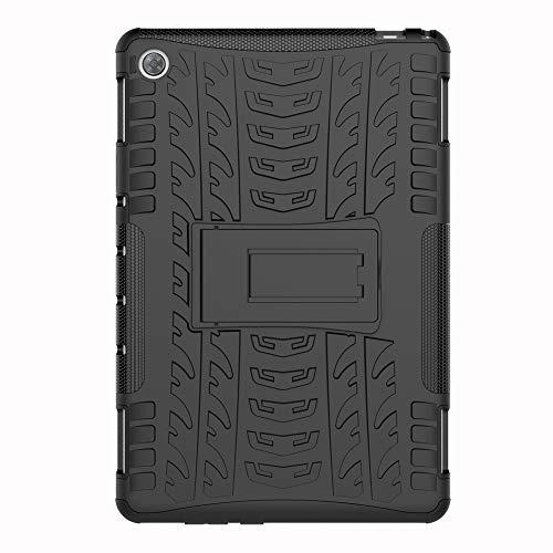 SHIEID Hülle für Huawei MediaPad M5(8.4 Inch)-Hülle Tough Hybrid Armor Hülle,Diese Handyhülle Anti-Wrestling Travel Essential Faltbare Halterung für Huawei MediaPad M5(8.4 Inch)(Schwarz)