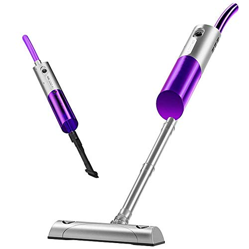 Aspirador inalámbrico, 2 en 1 aspirador de palo sin bolsa, cepillo de alimentación LED de succión multiacclónico de 8kPA, vacío de mano liviano con filtro HEPA (Color: Púrpura) kyman