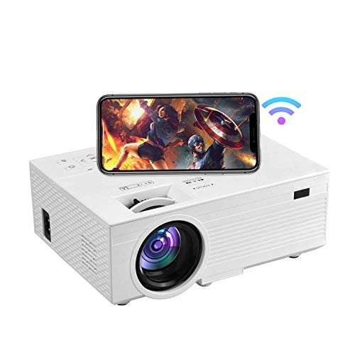 1080P HD Projector, Wireless Projector, OSEVEN 9000 Lumen 176' Portable Movie Projector, Home Theater Video Projector Compatible with TV Stick, HDMI, VGA, USB, Laptop, Tablet,Smartphone,iOS & Android
