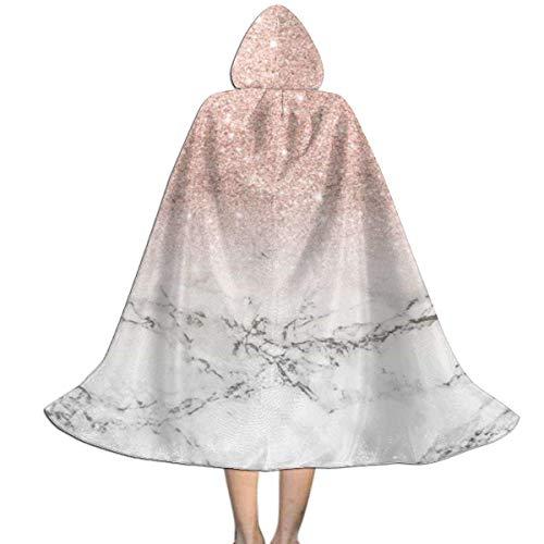Capa para nios Capa con Capucha Modern Rose Gold Pink Glitter White Marble Halloween