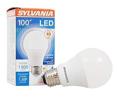 Sylvania, 100W Equivalent, LED Light Bulb, A19 Lamp, Energy Saving & Long Life, Medium Base, Efficient 14W