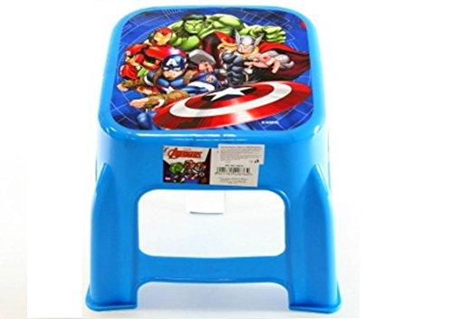 Star Marvel Avengers - Sgabello in plastica con Immagine Stampata, Dimensioni 24,5 x 20 cm