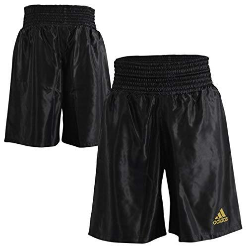 adidas Unisex Satin Boxtraining Sparring Fight Shorts, Unisex, Satin Boxen Training Sparring Fight Shorts, Schwarz, L