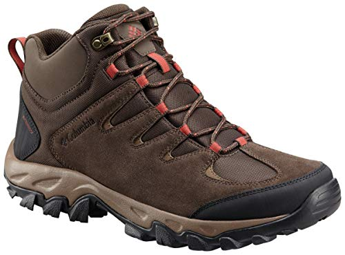 Columbia Men's Buxton Peak MID Waterproof Hiking Boot, Cordovan, Rusty, 10.5 Regular US