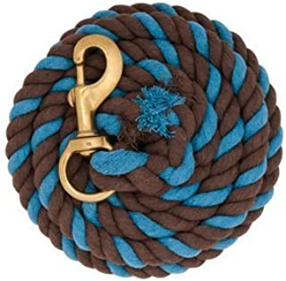 WEAVER Blue Red White LEAD ROPE BRASS SNAP HORSE TACK