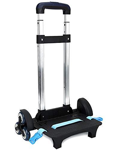 Trolley para Mochila - Aluminio de Mano Plegable Ruedas Trolley Escolar, Estilo-3,6 Ruedas