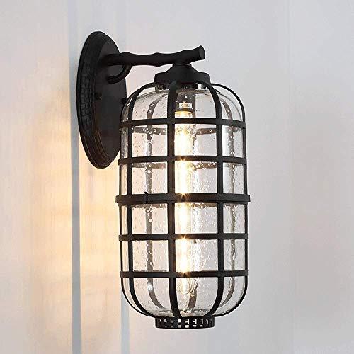 N / A Lámpara de Pared Exquisita E27 nació en Aluminio Fundido a presión Faro Sola Lluvia de Flores de Color Negro Vidrio Cava Sombra de iluminación por Estancia Pasillo Wall Restauran. 🔥