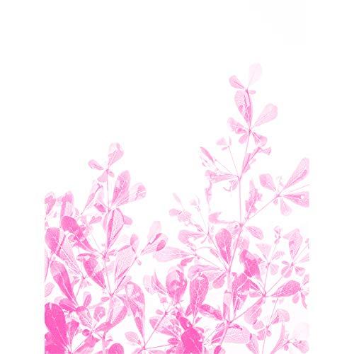 Magenta Plant Monochrome Pink Canvas Wall Art Print
