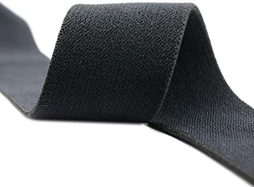 Strapcrafts 3/4-inch 20mm Plush Elastic, Comfortable Sewing Elastic, Soft Elastic. (Black, 5 Yards)