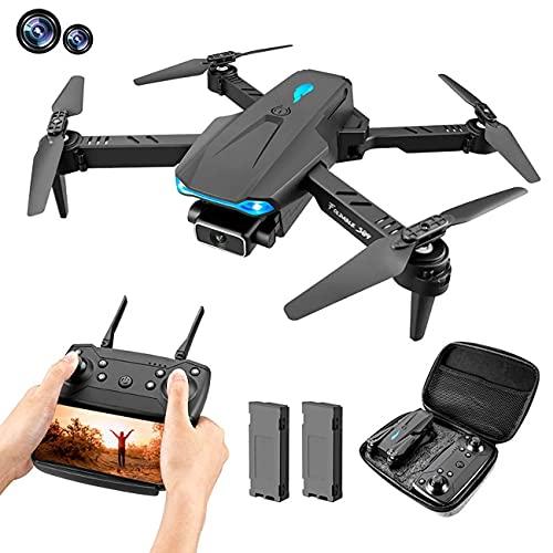 GZTYLQQ Drone con Fotocamera Drone con Fotocamera, Pieghevole FPV WiFi 120deg;Fotocamera grandangolare 4K HD, Volo traiettoria, Mantenimento dell'altitudine, 2 batterie modulari, Adatta per Bambini