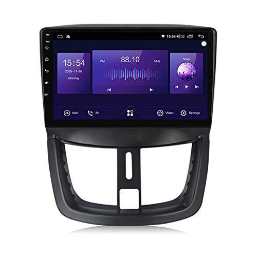 Radio de coche doble Din Navegación GPS Android 10 para Peugeot 207 2006-2015 5G FM RDS Radio Aux/CAM/DVR Soporte de entrada Monitor de reposacabezas Carplay/modo de pantalla dividida,7862,4+64G