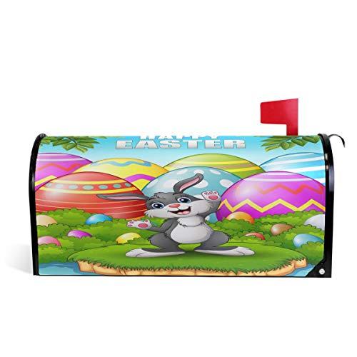 Wamika Spring Happy Easter Holiday Rabbit Couverture magnétique pour boîte aux Lettres Motif Lapin Taille Standard 51 x 46 cm 64.7x52.8cm Multicolore