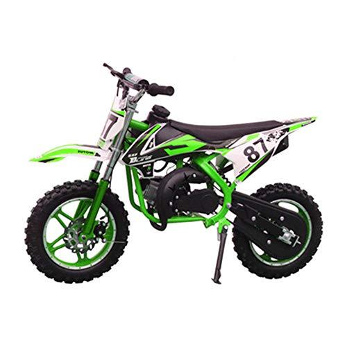 GYZD Dirt Bike 49cc Gas Power Mini Dirt Bike Pit Bike Transmisión Completamente automática,Verde