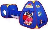 Authentic Maker Tienda de Campaña Infantil con Tunel para Niños,Tiendas de Campaña para Niños,Tunel Infantil con Canasta y Bolas,Jugar Tienda para Interiores/Exteriores Playhouse(Azul)