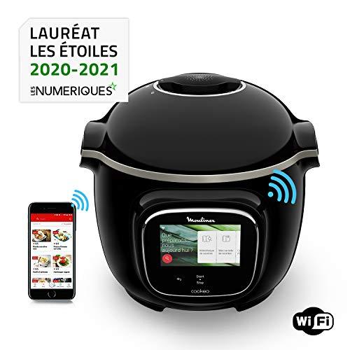 Moulinex Cookéo Touch Wifi - CE902800 - Intelligenter Multikocher, Hochdruck, angeschlossen, Touchscreen, 250 Rezepte, 13 Kochmodi, spezielle Anwendung, 6-Liter-Schüssel, interaktive Anleitung - 1600 W.