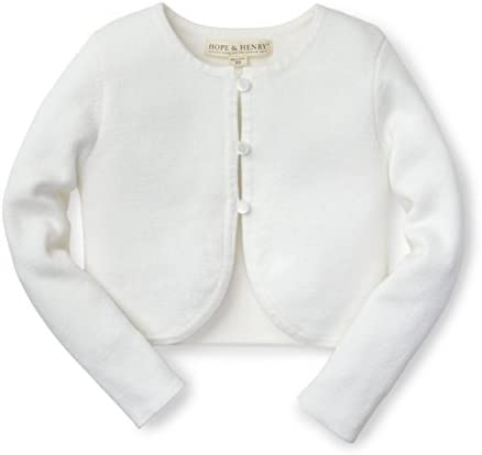Hope Henry Girls White Cropped Cardigan product image