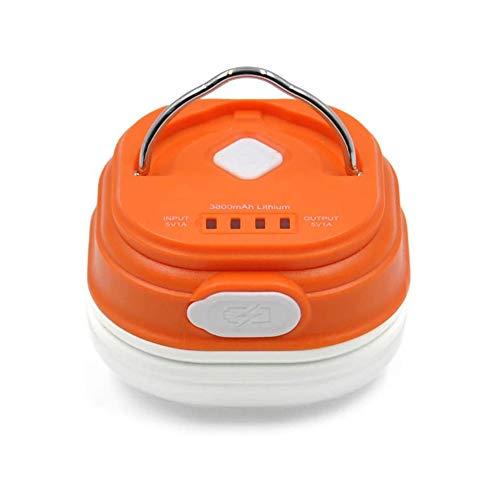 Hasey Lámpara LED de camping para tienda de campaña, lámpara de trabajo, lámpara de camping regulable, batería USB, portátil, 2,5 W SMD5050 LED (naranja)