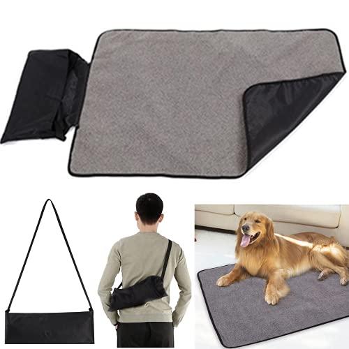 Faltbare Wasserdichte Haustier Decke Camping Decke Hund Katze Mat Wärmende Decke mit Tasche 100 x 70 cm Hundebett Hundematte für Outdoor Innen Große Reisedecke für Haustier