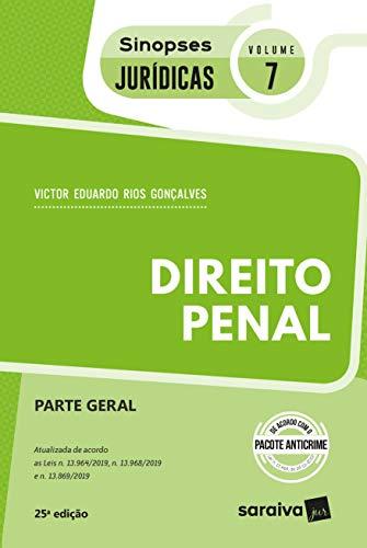 Sinopses - Direito Penal - Parte Geral - Vol. 07 - 25ª Edição 2020