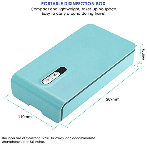 Pkfinrd 2W USB Draagbare UV Sterilizer Box Mobiele Telefoon gezicht Maskers Cleaner Ultraviolet Desinfectie Ondergoed Briefs UV Sterilizer Aroma