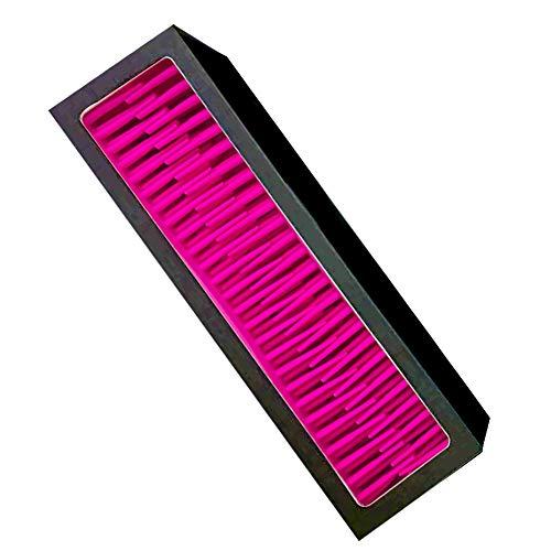 Xiton Outil de maquillage 1 pièce Porte-brosse de maquillage de silicone outil de beauté cosmétiques Organisateur de brosse d'air de séchage en rack pour la maison ou Travle (noir et rouge)