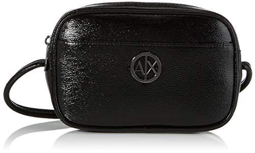 Armani Exchange - Small Zipper, Bolsos bandolera Mujer, Negro (Black), 10x10x10 cm (W x H L)