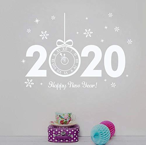 Wandsticker Hintergrund Wandtattoo Neujahr Uhr Form Fenster Wandaufkleber Weihnachten Wohnkultur Geschenke Transparent Glas Vinyl Aufkleber Weihnachten Fenster Glas Aufkleber
