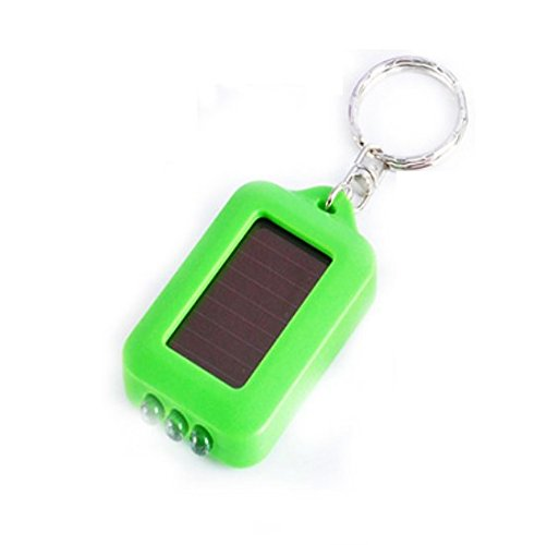 Liroyal Mini Bright 3 LED rechargeable à énergie solaire de secours d'urgence Lampe torche porte-clés